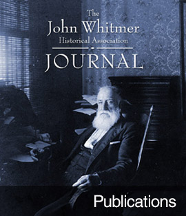 """Publications"" with cover image from the latest John Whitmer Journal"