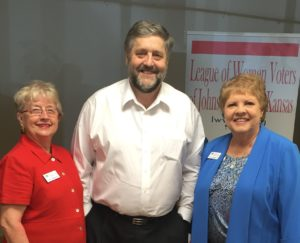 photo of Ann Norbury and Susan Horst with Dan Helling
