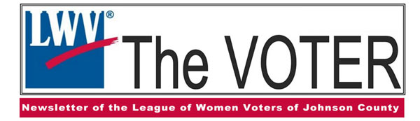 LWVJoCo The VOTER newsletter banner